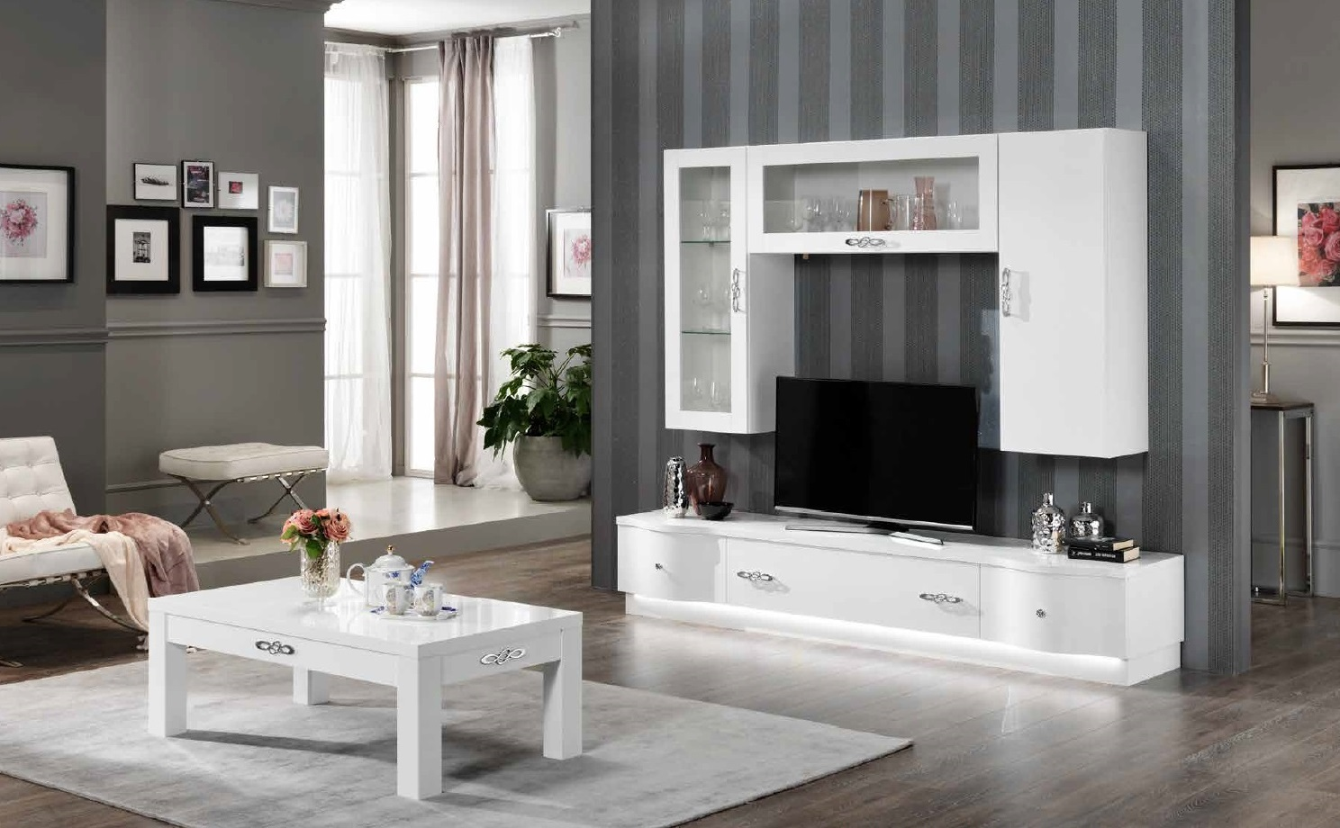 tv lowboard 240 wei hochglanz designerware mod t001. Black Bedroom Furniture Sets. Home Design Ideas
