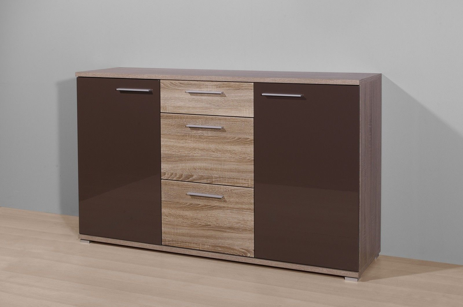 sideboard eiche dunkelbraun ebay. Black Bedroom Furniture Sets. Home Design Ideas