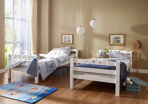 Ticaa Etagenbett Lupo : Etagenbett u201elupou201c buche massiv weiß möbel 29