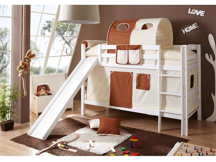 Etagenbett Buche Massiv : Etagenbett mit rutsche u201elupou201c buche massiv weiß möbel 29