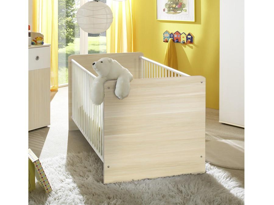 babybett milu ahorn wei m bel 29. Black Bedroom Furniture Sets. Home Design Ideas