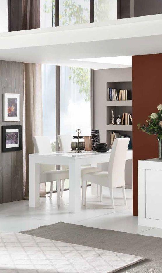 esszimmer set in wei hochglanz 10 teilig tisch 190 x 78 x 90 cm mod ks012 m bel 29. Black Bedroom Furniture Sets. Home Design Ideas